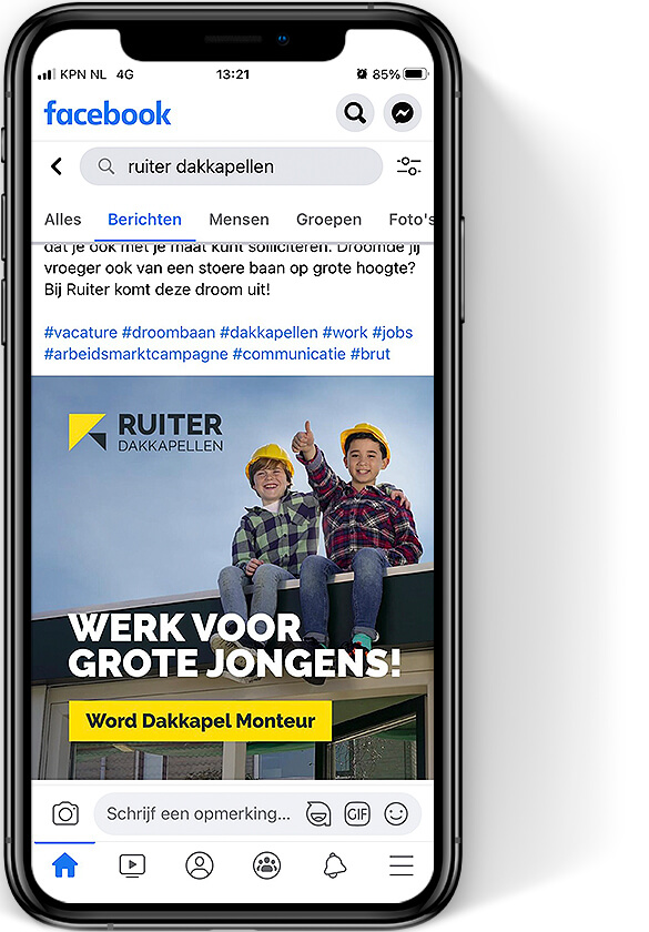 Ruiter Dakkapellen - social media