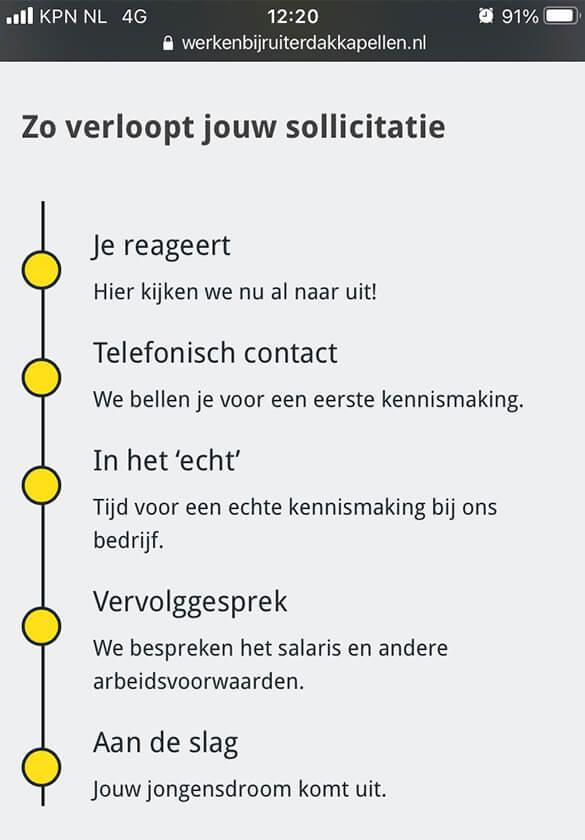 Ruiter Dakkapellen - sollicitatie preview